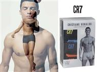 3 Boxers CR7 Underwear de Cor Preta com 3 Tamanhos à escolha. PORTES INCLUÍDOS.