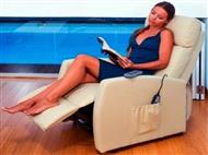 Poltrona de Massagens por Vibração, Inclinação, Função de Calor, Comando e 4 Cores à escolha.