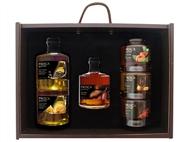 Caixa de Madeira Especial Gourmet da Casa da Prisca com 2 Opções à Escolha