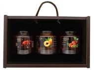 Caixa de Madeira Especial Gourmet I da Casa da Prisca: Compostas por 3 Deliciosos Produtos
