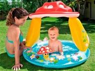 Piscina Insuflável com Guarda Sol Cogumelo para Criança. PORTES INCLUÍDOS.