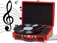 Gira-discos Portátil com Agulha de Cerâmica: Converta os seus Discos de Vinil para Formato Digital