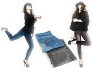 JEGGINGS: Fusão de Jeans com Leggings com 2 Cores e 4 Medidas à escolha. Esteja na Moda!
