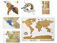 Mapa Raspadinha: Marque todos os Países que já Visitou