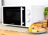 Microondas com Grill de 20 Litros: 5 Níveis de Potência com Descongelação e Grill com 3 Modos