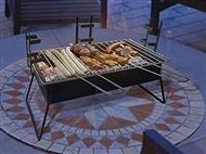 Barbecue a Carvão Portátil em Aço com 3 Alturas Diferentes para Grelhar
