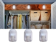 PACK DE 3 LÂMPADAS LED SEM FIO: Fornece Luz onde for Necessário sem qualquer Instalação Elétrica