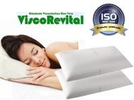 2 Almofadas Viscoelásticas com 90x35cm e Tratamento de Aloe Vera. Descanso cervical completo