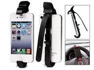 Suporte Ajustável para Smartphone para o Volante do Carro