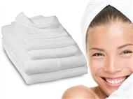 Conjunto de 6 Toalhas Brancas fabricadas com 100% de Algodão Egípcio de Qualidade Premium