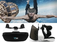 Óculos 3D de Realidade Virtual para Smartphones com Auscultadores Incorporados