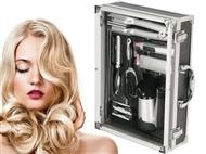 Kit Beleza: Secador de Cabelo, Modelador de Cabelo 3 em 1, Depiladora, Polidor de Unhas e 2 Escovas
