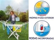 Estendal Solar da VILEDA. Ideal para Uso Exterior. Permite estender até 20 m de roupa. PORTES INCLUI