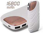 Power Bank 16800 mAh: Carrega 2 Dispositivos em Simultâneo com 2 Saídas USB e 1 Entrada Micro USB