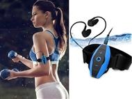 Auriculares Desportivos Resistentes à Água com Leitor de MP3 e 4GB de Memória