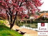 LUNA ARCOS HOTEL Nature & Wellness 4*: 1 ou 2 Noites no Gerês com Jantar e Wellness Club. Relaxe.
