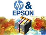 Conjunto de Tinteiros Compatíveis com Impressoras HP e EPSON