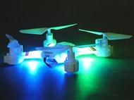 DRONE 360º Branco com Luzes e Alcance até 50 metros: Fácil de comandar as mais Divertidas Acrobacias
