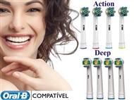 8 Recargas para Escova de Dentes Eletrica compativeis com as Máquinas Oral B.