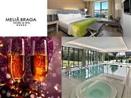 RÉVEILLON no Meliá Braga Hotel & Spa 5*: 2 a 4 Noites com Tratamento VIP, Massagem e Grande Gala.