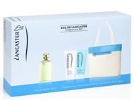 Coffret LANCASTER: EdT de 125ml, Body Milk de 200ml, Gel de Banho de 200ml e Bolsa para Senhora