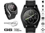 Relógio Inteligente G6 Preto com Pulseira de Aço Inoxidável - SmartWear Technology with Style.