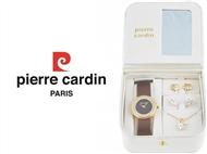 Conjunto Pierre Cardin Golden Stars com Relógio, Colar e 2 Pares de Brincos.