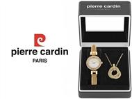 Conjunto Pierre Cardin Classic Charm Gold com Relógio e Colar.