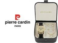 Conjunto Pierre Cardin Timeless Elegance com Relógio, Colar e 2 Pares de Brincos.