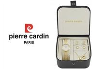 Conjunto Pierre Cardin Hearts of Love com Relógio, Colar e 2 Pares de Brincos.
