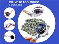 Chuveiro Ecológico. Poupa até 65% de água, elimina o cloro e tonifica, hidrata e limpa a pele.