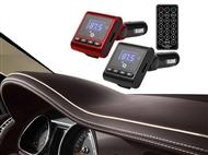 Transmissor FM/MP3 para o Carro com Comando à Distância e Suporta Cartões SD e Micro SD