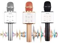 Microfone Karaoke Bluetooth com Colunas Integradas e 3 Cores à Escolha