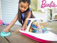Barco da Barbie e os Golfinhos Mágicos com 3 Cãezinhos e vários Acessórios