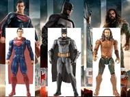 Liga da Justiça: Batman, Super-Homem e ou Aquaman. Figuras com 30cm e 11 pontos de articulação.
