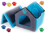 Casota de Tecido para Cães e Gatos. Dispõe de um fecho éclair no telhado. PORTES INCLUIDOS.