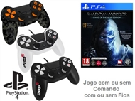 PS4: Jogo MIDDLE EARTH - SHADOW OF MORDOR GOTY EDITION com ou sem Comando com ou sem Fios.