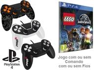 PS4: Jogo LEGO - JURASSIC WORLD com ou sem Comando com ou sem Fios.