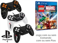 PS4: Jogo LEGO - MARVEL SUPER HEROES com ou sem Comando com ou sem Fios.