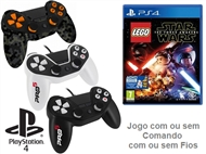 PS4: Jogo LEGO - STARS WARS THE FORCE AWAKENS com ou sem Comando com ou sem Fios.