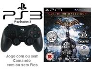 PS3: Jogo BATMAN - ARKHAM ASYLUM GOTY EDITION com ou sem Comando com ou sem Fios.
