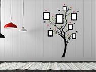 Árvore com Molduras em Vinil Autocolante Adesivo Decorativo de 57x85cm para Superfícies Lisas