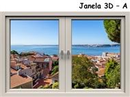 Janelas 3D em Vinil Autocolante Adesivo Decorativo de 120x80cm para Superfícies Lisas