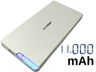 Power Bank 11000 mAh: Carrega Smartphones ou Tablets por USB com Design Moderno e Leve