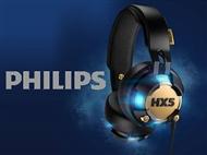 Auscultadores com Microfone HX5 da PHILIPS com Luz LED que se Sincroniza ao Ritmo da Música