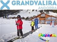 GRANDVALIRA: ESPECIAL CARNAVAL na NEVE: 5 Noites com Alojamento 5*, Voo, Transferes, Forfait e Skis