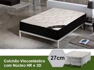 Colchão Viscoelástico Capri 3D Sensitive Deluxe com 27 cm de Altura, Núcleo HR e