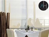 Restaurante Arribas Terrace: Menu do Mar para 2 Pessoas com vista panorâmica sobre o Oceano.