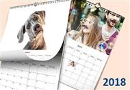 Calendário de Parede com Capa em A4 de 12 Páginas de 21x29,7cm Personalizado com as suas Fotografias