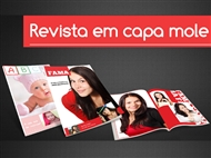 Revista com Capa de 20 Páginas de 21x29,7cm Personalizada com as suas Fotografias e Imagens